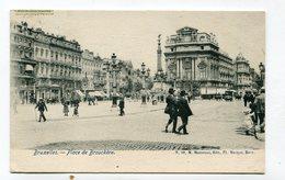 CPA  Belgique : BRUXELLES Place Brouckère Animée  A  VOIR  !!!!!!! - Marktpleinen, Pleinen