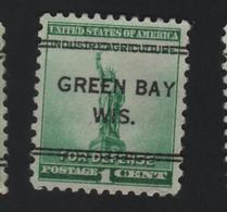 USA 757 SCOTT 899 GREEN BAY WIS - Estados Unidos