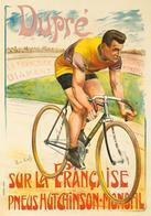 Cycle Postcard La Francaise Pneu Hutchinson Dupré 1909 - Reproduction - Pubblicitari