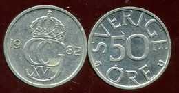 SWEDEN SUEDE 50 Ore  1982 - Schweden