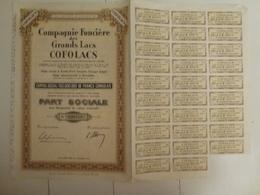 Action Compagnie Foncière Des Grands Lacs Cofolacs - Banque & Assurance
