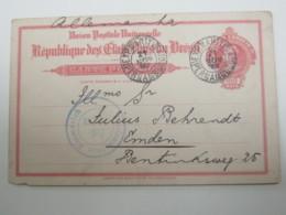 BRASIL , EXP.MARITIMA  Pernambuco , Tajeta Postal  1915  A Alemanhia , Censura - Brasil