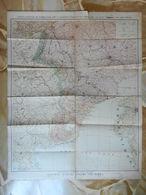 7d) CARTA DEL FRONTE FRANCO TEDESCO LINEE MAGINOT SIGFRIDO OLANDA BELGIO FRANCIA GERMANIA FORMATO 56 X 70 Cm CIRCA STRAP - Carte Geographique