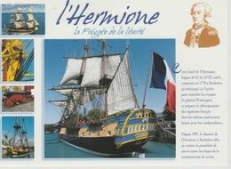 18/12/ 130  -  L'  HERMIONE  - LA  FRÉGATE  DE  LA  LIBERTÉ - LAFAYETTE  - C. P. M. Dos  - Divisé  Simple     Circulé  - - Sailing Vessels