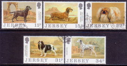 JERSEY 1988 SG #438-442 Compl.set Used Jersey Dog Club - Jersey