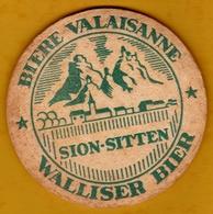 Sous-bock Cartonné - Bière - Suisse - Bière Valaisanne - Walliser Bier - Sion - Sitten - Années 60 - Sous-bocks