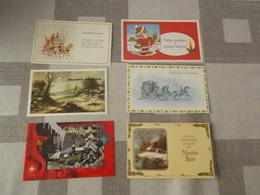 LOT Van 1200 Kerst - En Nieuwjaarskaartjes 9 X 14 - GEEN POSTKAARTEN !!!! - Cartes Postales