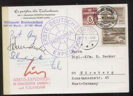 1. Deutsche Nordpol-Expedition, Gelaufen DANEBORG 15.8.1966 / GRÖNLANDS-POSTKONTOR 6.9.1966 - Spedizioni Artiche