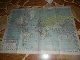 8d) PLANISFERO POLITICO LE COLONIE DEL MONDO 1942 COLONIE E LINEE DI NAVIGAZIONE LIEVI SEGNI D'USO PAGINE CON PICCOLI ST - Carte Geographique
