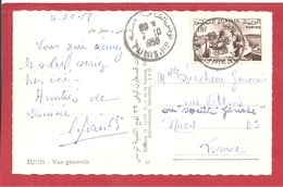 Y&T N°376 TUNIS   Vers FRANCE  1958 2 SCANS - Tunisie (1956-...)