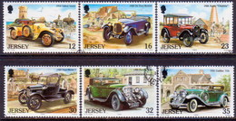 JERSEY 1989 SG #462-67 Compl.set Used Vintage Cars (1st Series) - Jersey