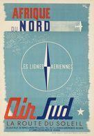 Aviation Postcard Air Sud Afrique Du Nord 1948 - Reproduction - Pubblicitari