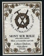 Rare // Etiquette De Vin // Montagne // Mont-sur-Rolle, Union Des Patrouilleurs Alpins - Montagnes