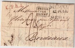 """Preußen """" MEMEL """" L2 Und L1 , Stp. Komb.  , #a1523 - Memel (1920-1924)"""
