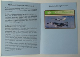 UK - BT - L&G - Royal Air Force - BTG145 - McDonnell Douglas F4 Phantom -343K - 600ex - Limited Edition - Mint In Folder - BT General Issues