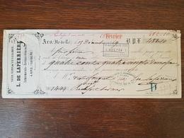 Lettre De Change / Chèque 1869 - Ars En Ré - Bills Of Exchange