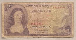 Colombia - Banconota Circolata Da 2 Pesos P-413a.1 - 1972 - Colombia