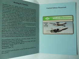 UK - BT - L&G - Royal Air Force - BTG307 - Boeing E-3 Sentry - 405B - 600ex - Limited Edition - Mint In Folder - BT General Issues