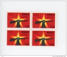 Angola-1975-Année De L 'indépendance-fusil-1 Valeur En Bloc De 4***MNH - Angola