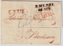"""1822, """" P. MEMEL """" Sehr Klar  , #a1524 - Prussia"""