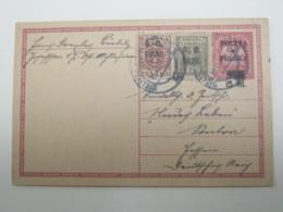 1920 , Oberschlesien , Ganzsache  Aus Bielitz Nach Deutschland - Schlesien (Ober- Und Nieder-)