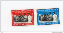 Sao Tome-1976-Proclamation De L'indépendance- MI 439/40***MNH2x2 Timbres - Sao Tome Et Principe