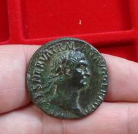 Monnaie, Superbe Trajan AE As - 3. Les Antonins (96 à 192)