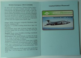 UK - BT - L&G - Royal Navy - BTG236 - British Aerospace BUCCANEER - 401D - 600ex - Limited Edition - Mint In Folder - Royaume-Uni