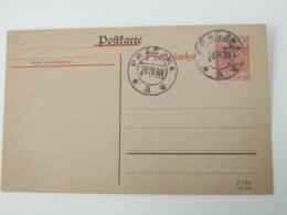1919, PRASZKA  , Ganzsache - Ganzsachen