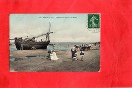 Carte Postale - BERCK PLAGE - D62 - Préparatifs De Départ D'un Bateau - Berck