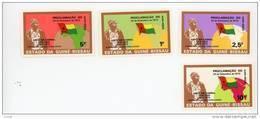 Guinée Bissau-1974-Proclamation De L'indépendance-Drapeaux-Amitcar Cabral-345/8***MNH-Valeur 34 Euro - Guinée-Bissau
