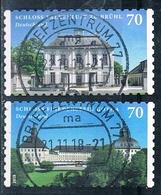 2018  Schloss Falkenlust Zu Brühl Und Friedenstein Gotha (selbstklebend) - [7] République Fédérale