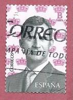 SPAGNA USATO - 2016 - King Felipe VI - Facciale B° - Michel ES 5029 - 1931-Oggi: 2. Rep. - ... Juan Carlos I