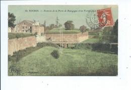 Rocroi Avancée De La Porte De Bourgogne Et Ses Fortifications ( Carte Couleur ) - Andere Gemeenten