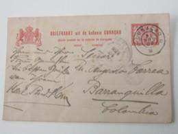 1909 , CURACAO , Briefkaart Naa  Columbien - Curaçao, Nederlandse Antillen, Aruba