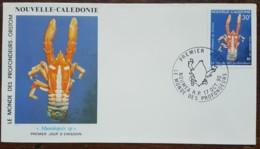 Nouvelle-Calédonie - FDC 1990 - YT Aérien N°271 - Faune / Le Monde Des Profondeurs / Crustacés - FDC
