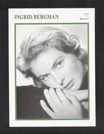 INGRID BERGMAN -  FILMACTRICE - FOTOKAART (18 Cm X 13 Cm) + INFO (5492) - Acteurs