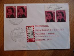 (S) DEUTSCHE BUNDESPOST DUITSLAND REGISTRED COVER 1960 SONDERSTEMPEL MIXED FRANKING - Lettres & Documents