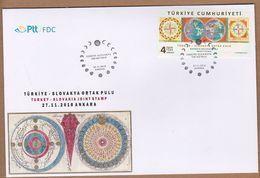 AC - TURKEY FDC  - TURKEY - SLOVAKIA JOINT STAMP ANKARA, 27 NOVEMBER 2018 - 1921-... République