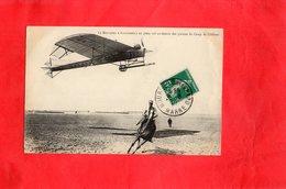 """Carte Postale  - Le Monoplan """"Antoinette"""" En Plein Vol Au-dessus Des Plaines Du Camp De Châlons - Avions"""