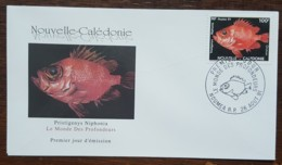 Nouvelle-Calédonie - FDC 1991 - YT N°618 - Le Monde Des Profondeurs / Faune / Poissons - FDC