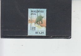 MALDIVE -  Fauna - Preistoria - Francobolli