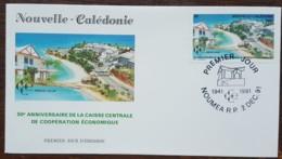 Nouvelle-Calédonie - FDC 1991 - YT N°628 - Caisse Centrale De Coopération /Habitat Social, Hôtellerie Et Tourisme - FDC