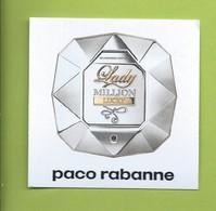 PACO RABANNE * LADY MILLION LUCKY * - Perfume Cards