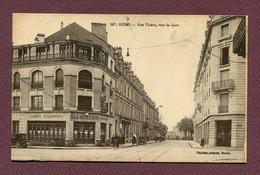 "REIMS  (51) : "" RUE THIERS, Vers La Gare "" - Reims"
