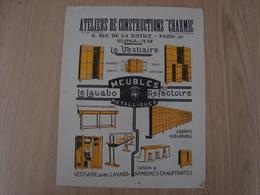 DOCUMENT PUBLICITAIRE  MEUBLES METALLIQUES ATELIERS DE CONSTRUCTIONS CHARMIC - Publicités