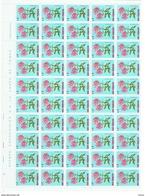 SAN MARINO:  1971  FIORI  -  £. 2  PHLOX  A  CORIMBI  FGL. 100  N. -  SASS. 837 - Blocchi & Foglietti