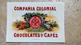 CPM. COMPANA COLONIAL CHOCOLATES Y CAFES - MADRID - éditions Du Centenaire Illustration ESPAGNE ESPAGNOL - Advertising