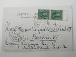 1904, US - German Seapost , Klarer Stempel Auf Ansichtskarte Schiff - Deutschland