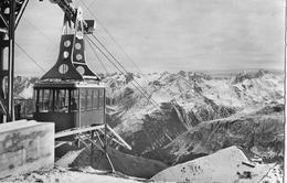 LUFTSEILBAHN PARSENN-WEISSFLUG → Bergstation Mit Einfahrender Gondel Anno 1957 - GR Grisons